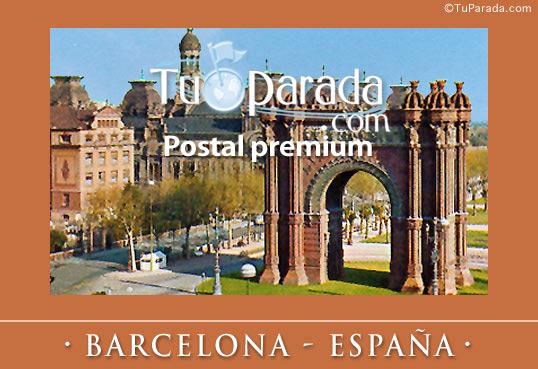 Tarjeta - Foto de Barcelona