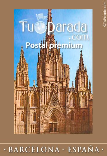 Tarjeta - Foto de la Catedral de Barcelona