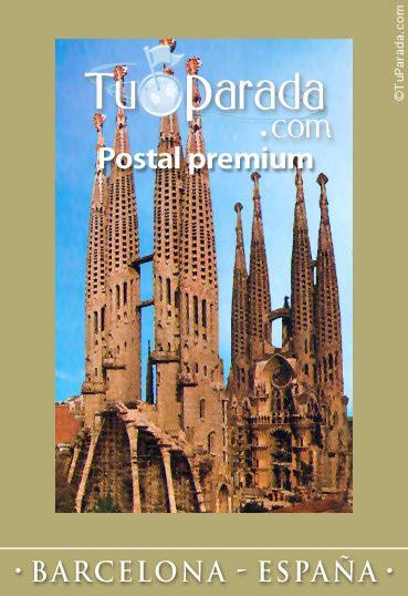 Tarjeta - Foto de la Sagrada Familia en Barcelona