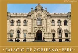 Foto del Palacio de gobierno - Perú