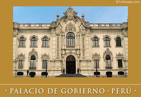 Tarjeta - Foto del Palacio de gobierno - Perú