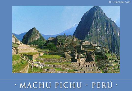 Tarjeta - Foto de Machu Pichu