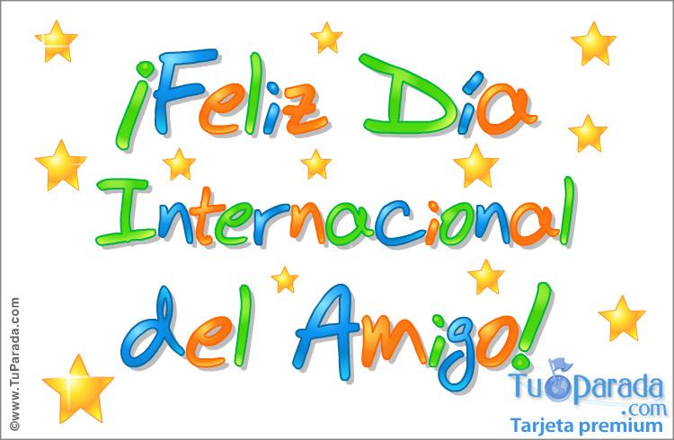 Tarjeta - Feliz Día del Amigo en colores.