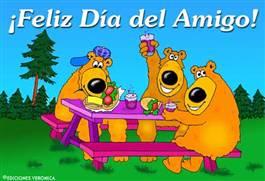 Feliz día del amigo con osos