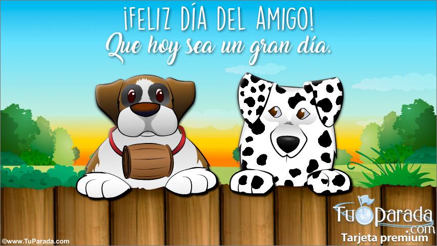 Tarjeta - Tarjeta día del amigo con perros