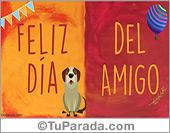 Tarjetas postales: Feliz día del amigo especial