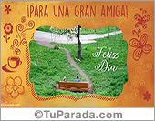 Tarjetas postales: Para una gran amiga, feliz día