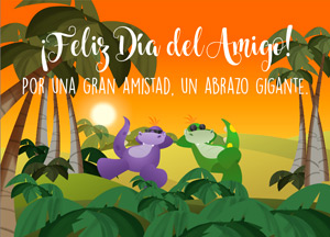 Tarjetas postales: Tarjeta Día del Amigo con saludos