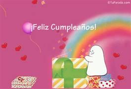 Feliz cumpleaños con caja mágica