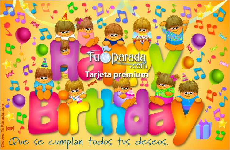 Tarjeta - Tarjeta de Happy birthday