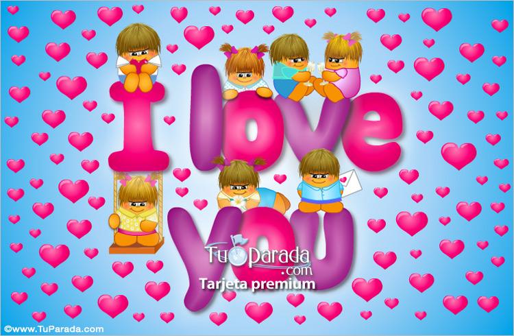Tarjeta - I love you de Los Gordis