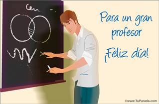 Tarjeta Día del profesor