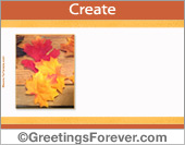 Create Thanksgiving ecard