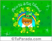 Tarjetas postales: Tarjeta de San Patricio
