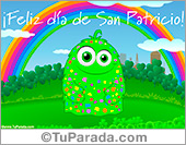Tarjetas postales: Tarjeta de San Patricio con arco iris