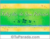 Tarjeta para San Patricio en color pastel