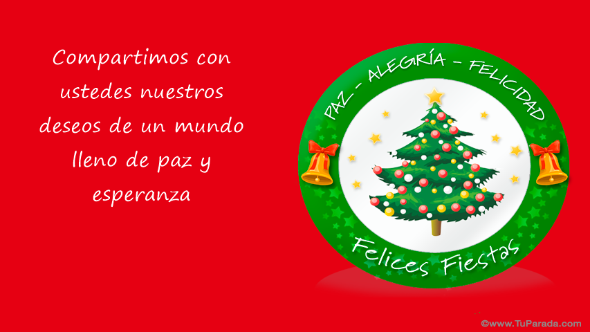 Tarjeta - Felices Fiestas