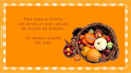 Crear tarjeta de Acción de Gracias