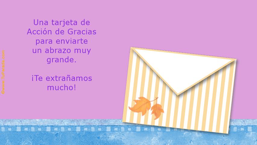 Tarjeta - Acción de Gracias