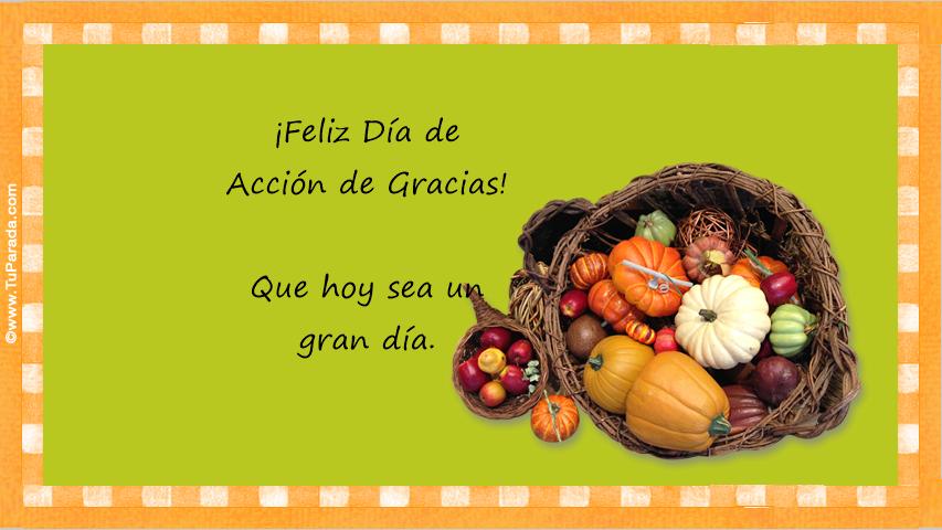 Tarjeta - Saludo de Acción de Gracias