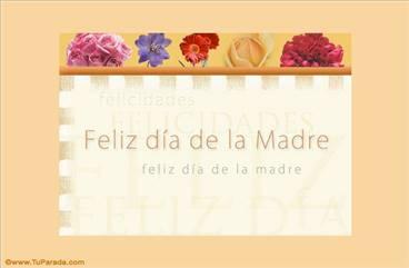 A mamá con flores