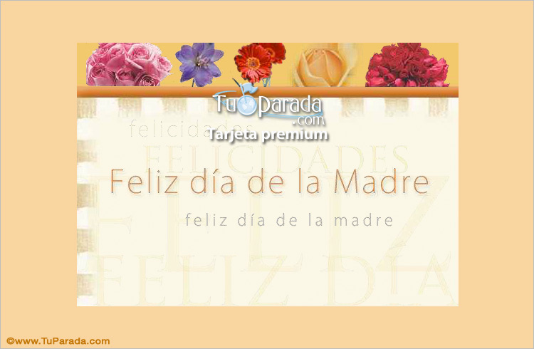 Tarjeta - A mamá con flores