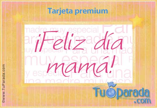 Tarjeta - Feliz día Mamá