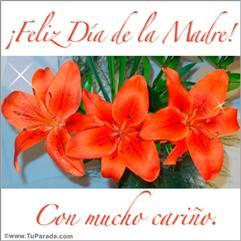 Feliz día con flores