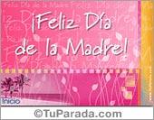 Feliz Día de la Madre en rosa.