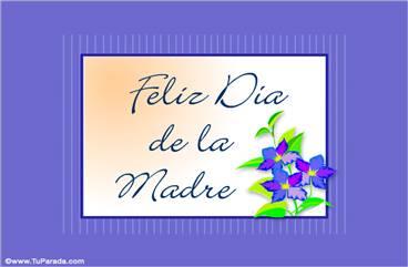 Feliz día con flores color lila