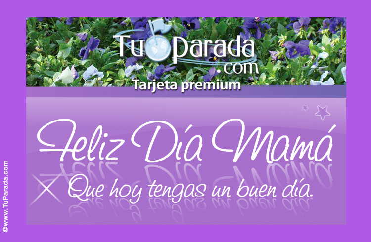 Tarjeta - Feliz Día con flores