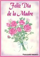 Feliz día de la madre en rosa y lila