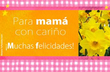 Tarjeta con flores para mamá
