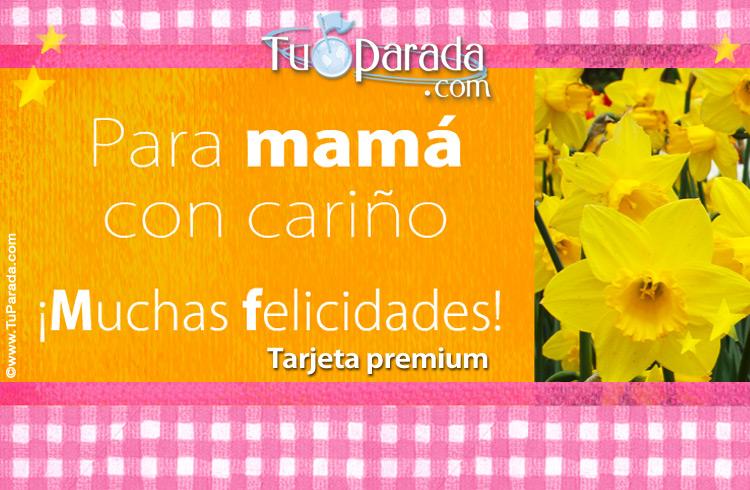 Tarjeta - Tarjeta con flores para mamá