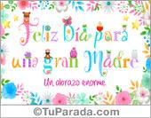 Tarjetas postales: Feliz día para una gran madre