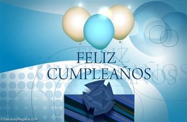 Feliz cumpleaños con globos
