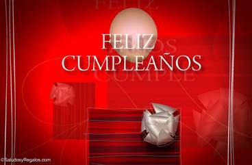 Saludo de feliz cumpleaños