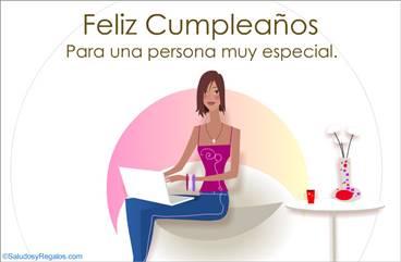 Feliz cumpleaños para mujer