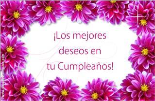 Los mejores deseos de Feliz Cumpleaños