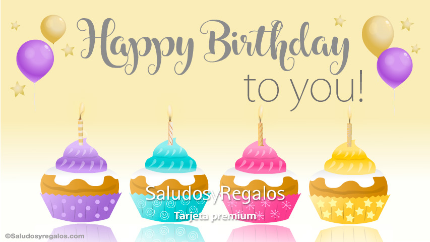 Tarjeta - Happy birthday to you