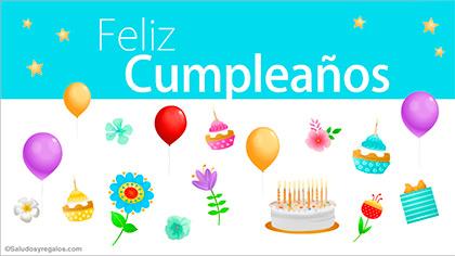 Saludo de feliz cumpleaños festivo