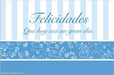 Tarjeta de felicidades