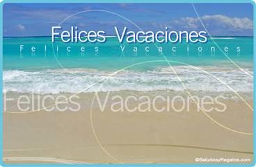 Felices Vacaciones en el mar