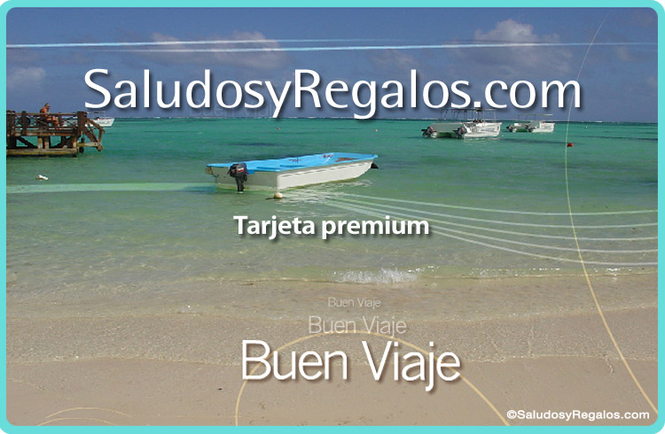 Tarjeta - Buen viaje - Playa