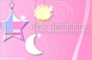 Feliz Nacimiento rosa.