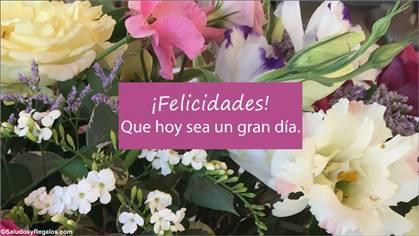Felicidades y saludos