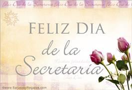 Tarjeta virtual para el día de la secretaria
