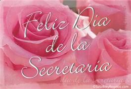Feliz día de la secretaria con rosas