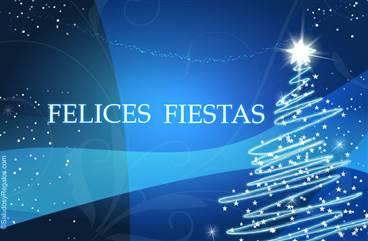 Felices fiestas azul