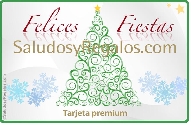 Tarjeta - Felices Fiestas con árbol deco